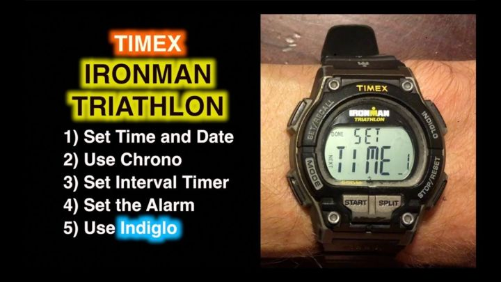 How To Set Timex Ironman Triathlon Set Time Date Chrono Timer And Alarm