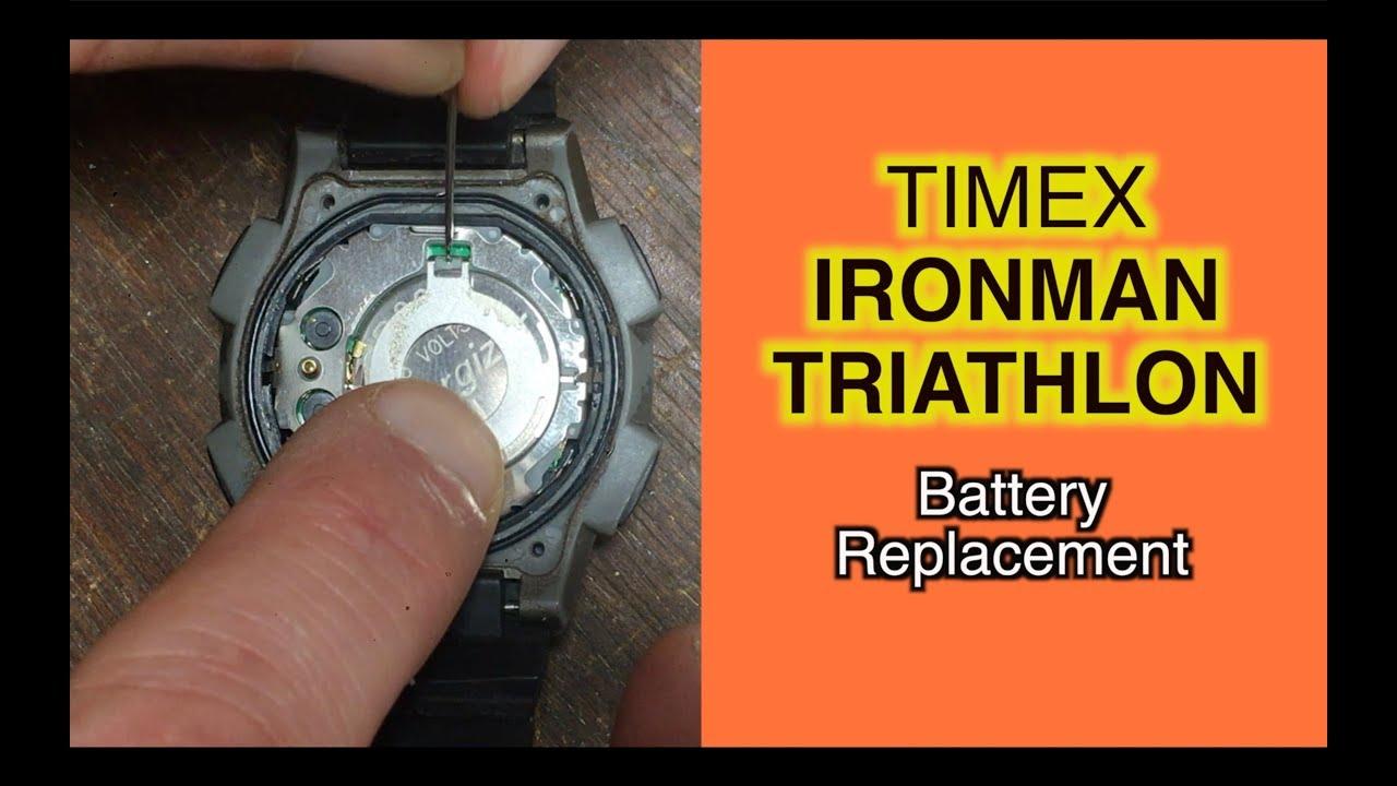 ironman replacing watch triathlon in battery timex